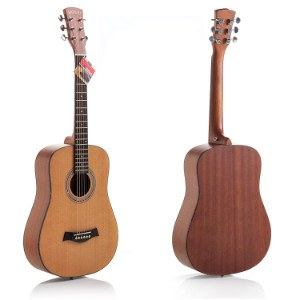 Front and rear view of Hola! Music HG-36N guitar