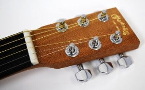 Headstock on Martin Steel String Backpacker Guitar