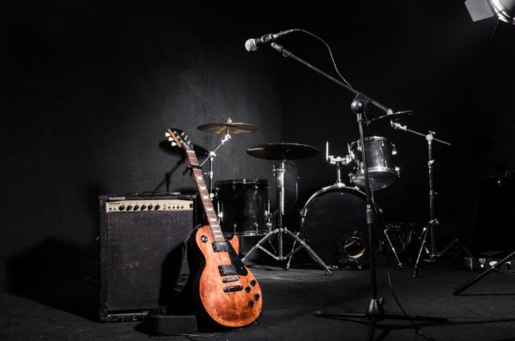 Set of Musical Instruments at Concert