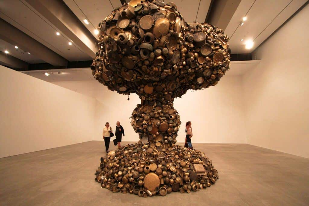 Giant Mushroom Cloud Made of Pots