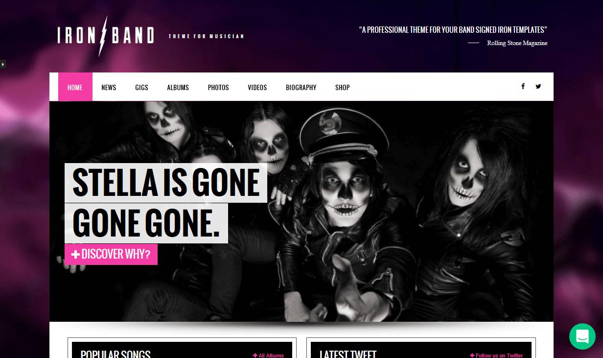 Ironband_Theme_Demo