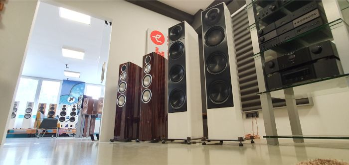 A Variety of Tower Speakers On Display