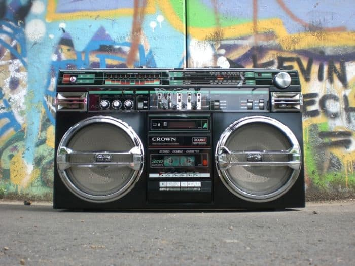 Old School Retro Boombox