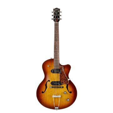 Godin 5th Avenue CW Electric Guitar (Kingpin II, Cognac Burst)(1)