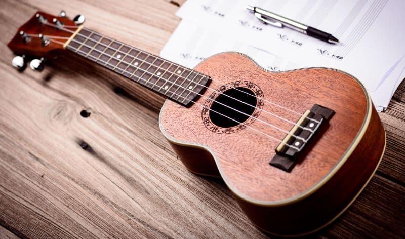 Ukulele and Sheet Music