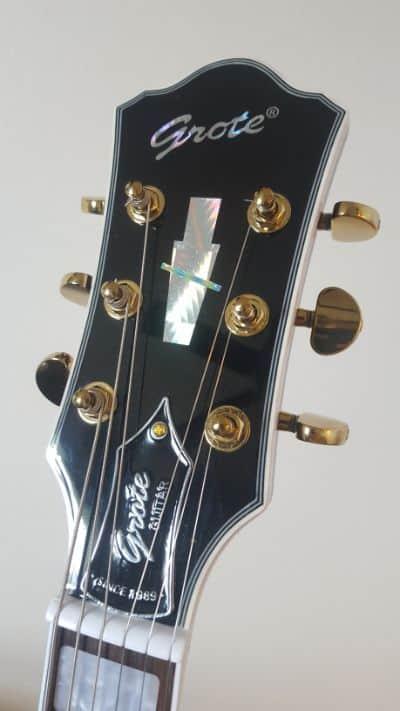 headstock of Grote 335 guitar