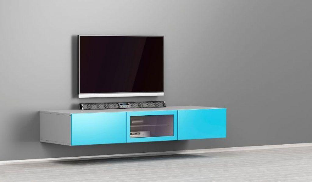 soundbar under a television