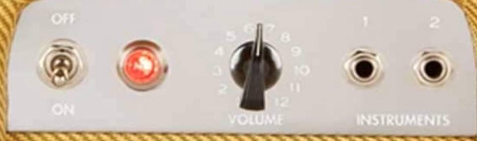 Fender 57 Custom Champ Controls