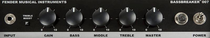Fender Bassbreaker 007 Controls