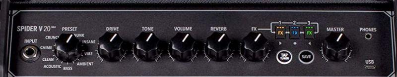 Line 6 Spider V20 (mkII) Controls