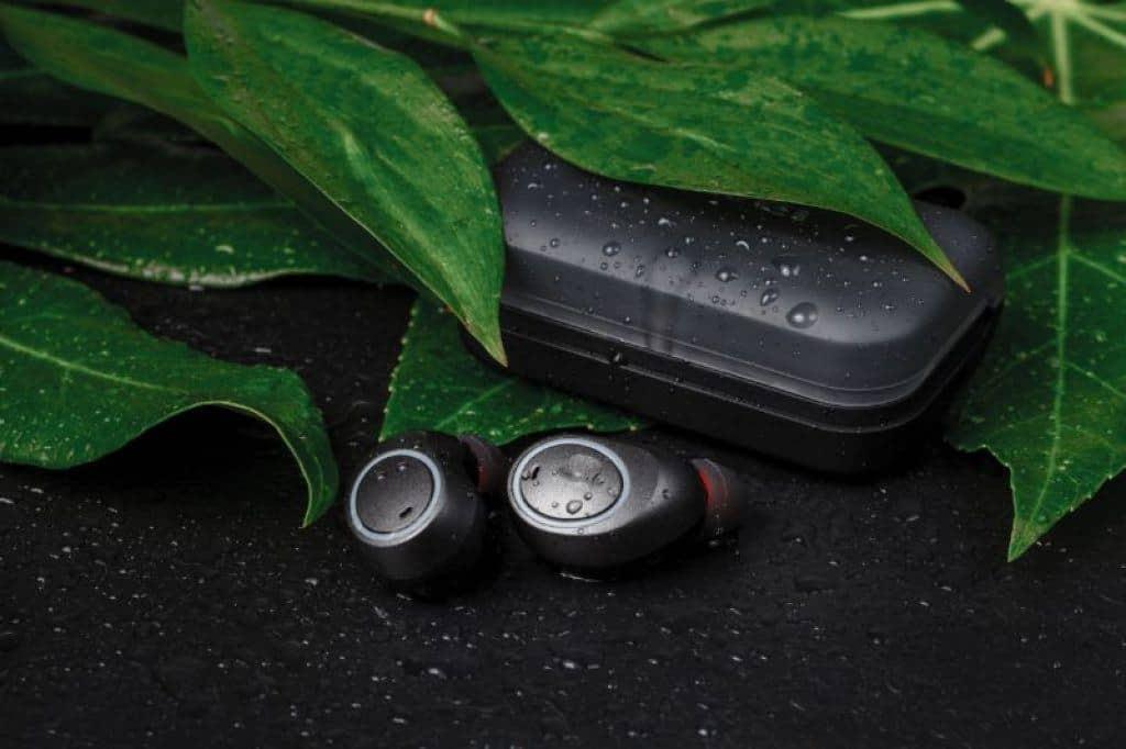 Waterproof Headphones on display