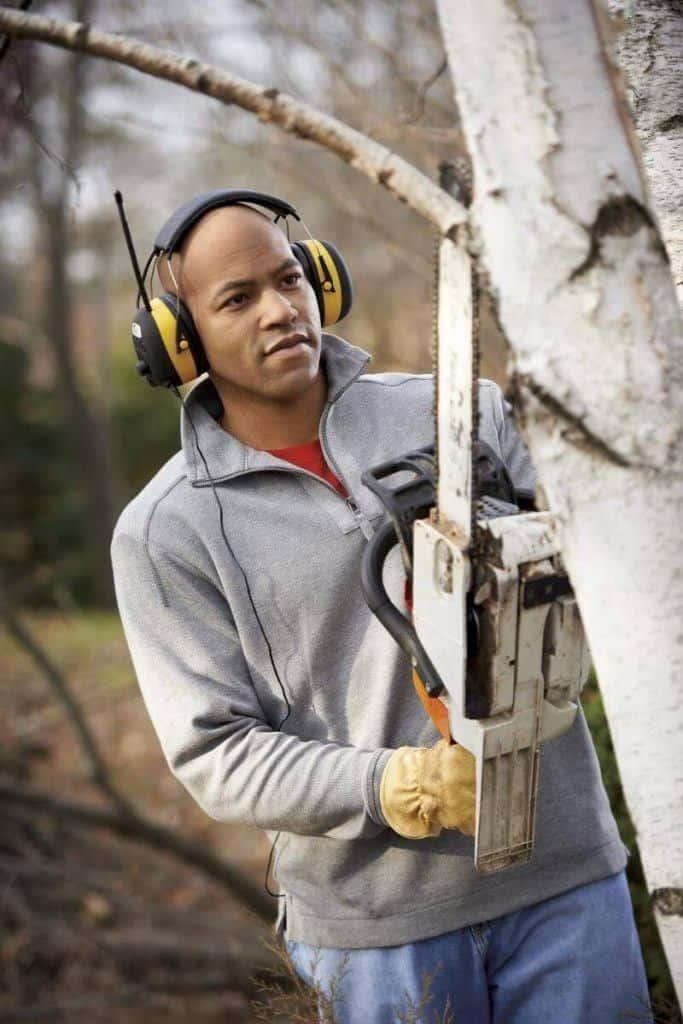 man wearing am fm headphones