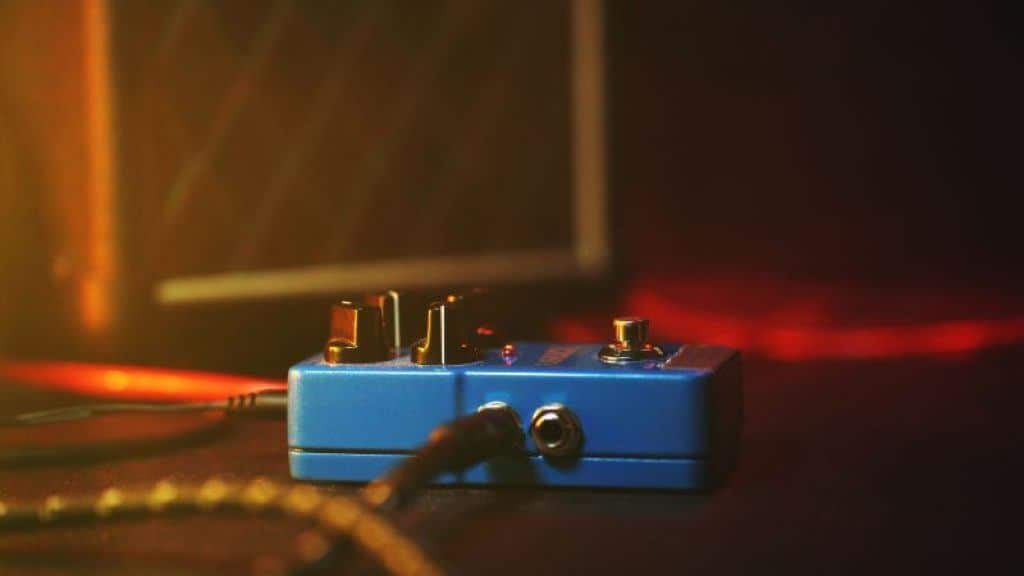 A Fuzz Pedal In Use