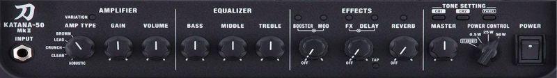 Boss Katana 50 (mkII) Solid State Amp Controls
