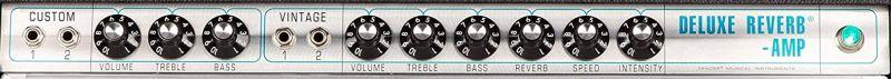 Fender 68 Custom Deluxe Controls