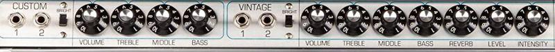 Fender Custom '68 Twin Reverb Combo Controls