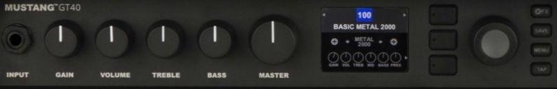 Fender Mustang GT40 Controls