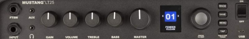 Fender Mustang LT25 Amp Controls