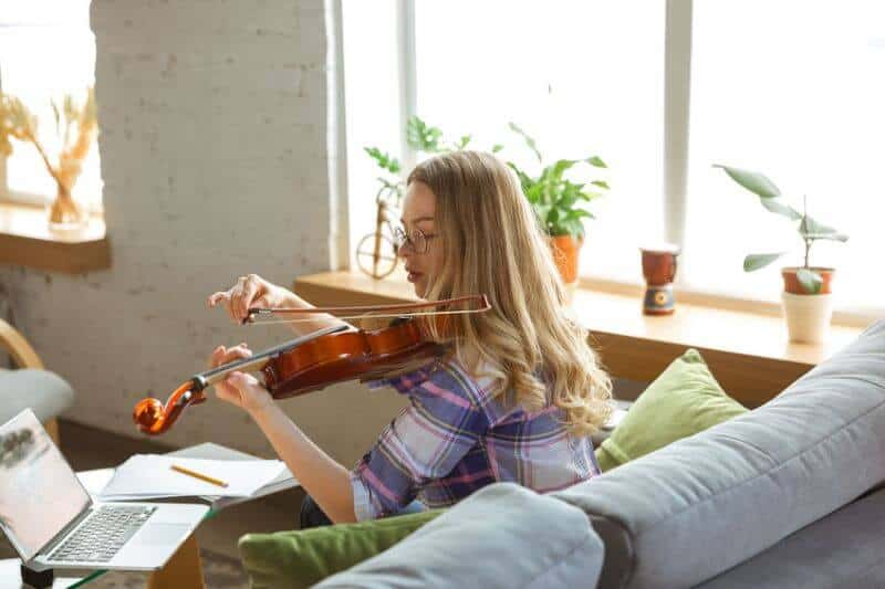 Intermediate Musican Playing the Violin