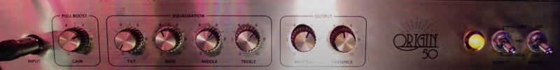 Marshall Origin 50 Combo Amp Controls