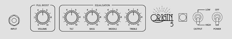 Marshall Origin 5W Combo Controls