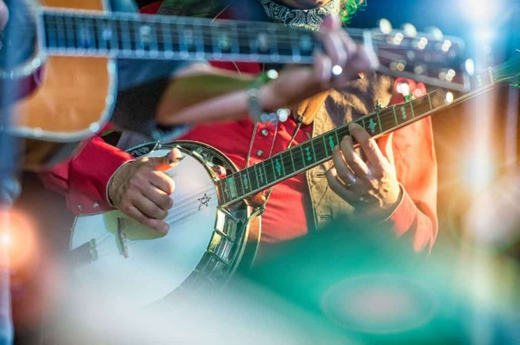 Musican Playing a Banjo