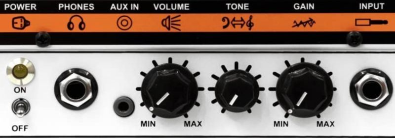 Orange Amps Micro Terror Controls