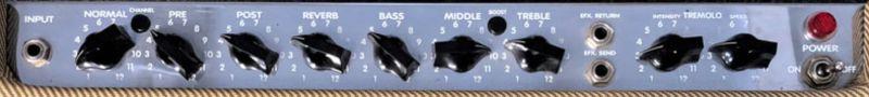 Peavey Delta Blues 115 Combo Controls