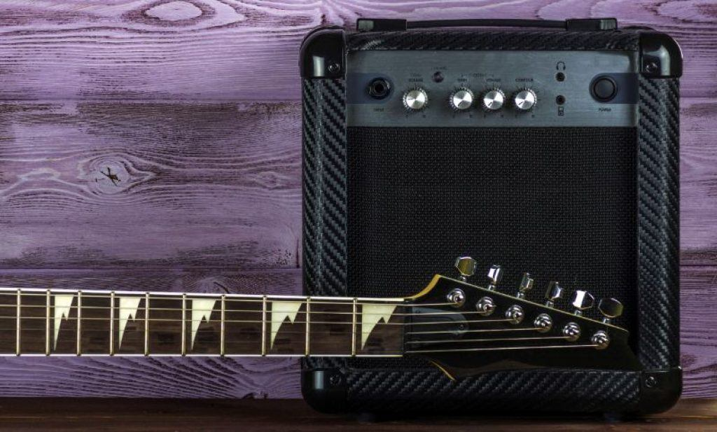 Solid State Guitar Amplifier and Electric Guitar