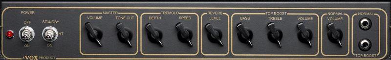 Vox AC15C1X Combo Controls