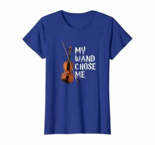 My Wand Chose Me Violin T-Shirt