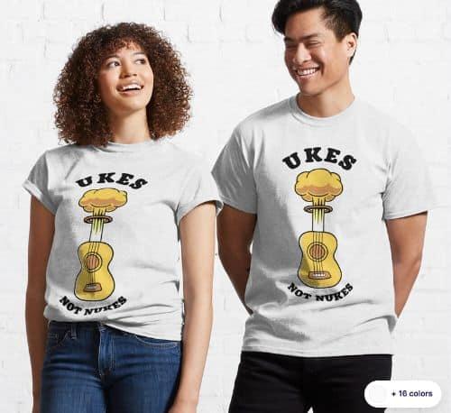 Ukes_not_Nukes_Classic_T-Shirt