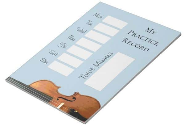 Violin_Practice_Record_Chart_Notepad
