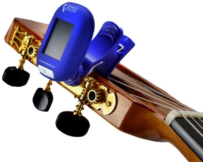 Kennedy Violins tuner in use on Antonio Giuliani CL-5 guitar