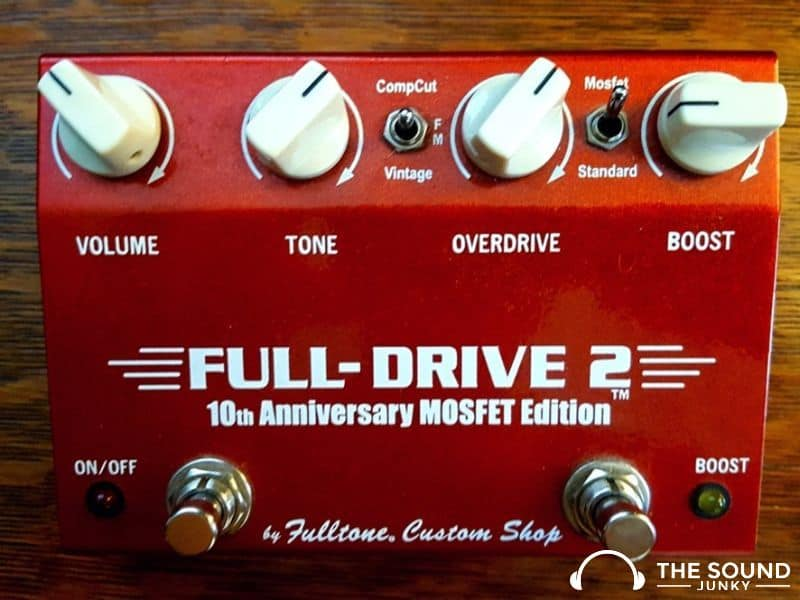 Controls on the Fulltone Full-Drive 2 Overdrive Pedal