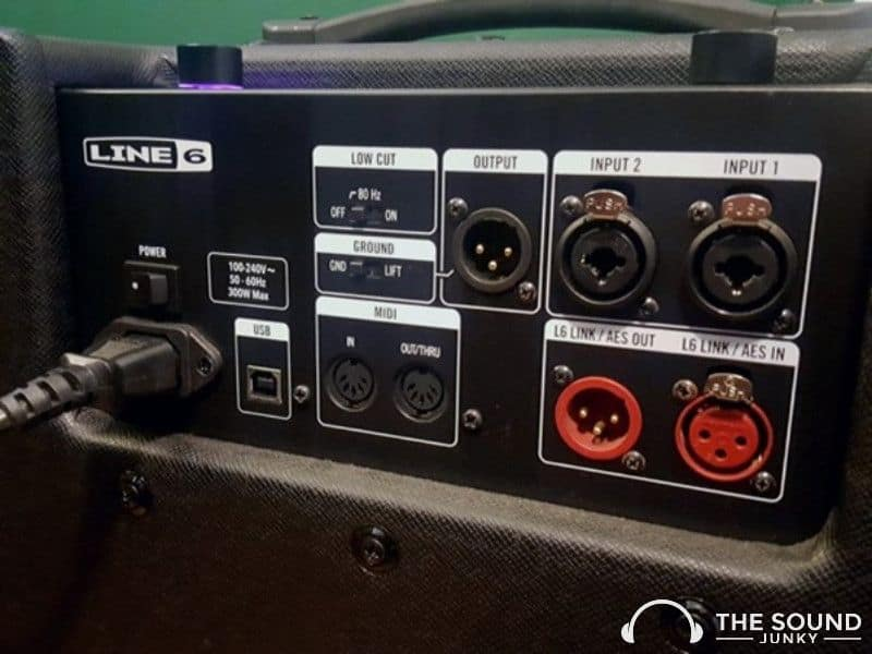 Inputs on the Line 6 Powercab 112 Plus