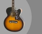 Epiphone EJ-200SCE Review – Solid Top Acoustic-Electric Guitar (Black/Vintage Sunburst)