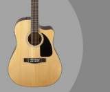 Fender CD60CE Review – Dreadnought Cutaway Acoustic Electric Guitar (Mahogany, Black, Sunburst or Natural)