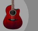 Ovation Balladeer Review – AB24-RR Applause Acoustic-Electric Guitar [Ruby Red]